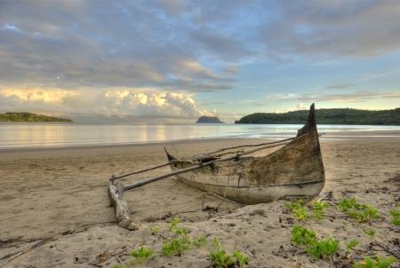dugout: The Nosy Mitsio island. Madagascar