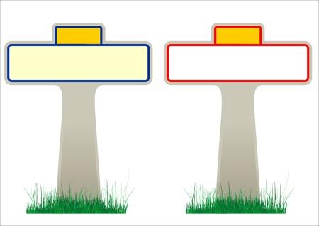 ortseingangsschild: Illustration von 2 Französisch Verkehrszeichen mit leeren Rahmen für Dorf-und Stadtnamen