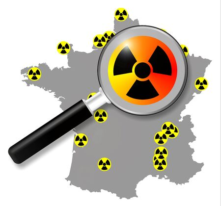 french nuclear energy, map Stock Photo - 21428120