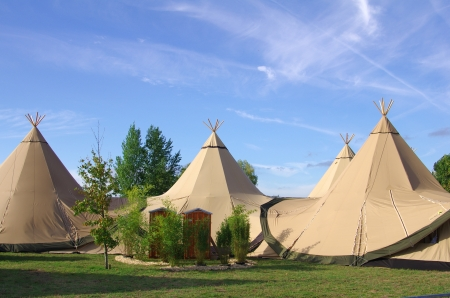Tipis in nature