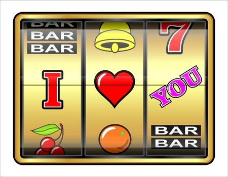 I love you  Abstract gambling illustration  Love concept  illustration