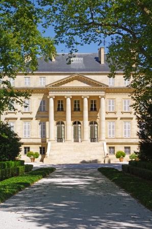 Château Margaux est un célèbre domaine viticole de vin de Bordeaux Banque d'images - 25485517