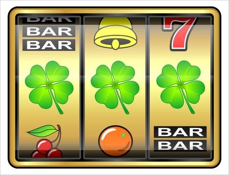 fluke: Gambling illustration  Clover, concept, luck