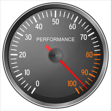 Performance meter isolated on white background