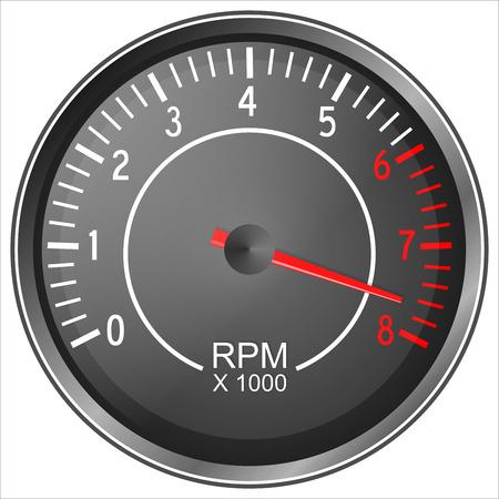 Tachometer illustration isolated on white background