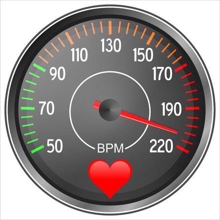 Blood pressure gauge illustration isolated on white background