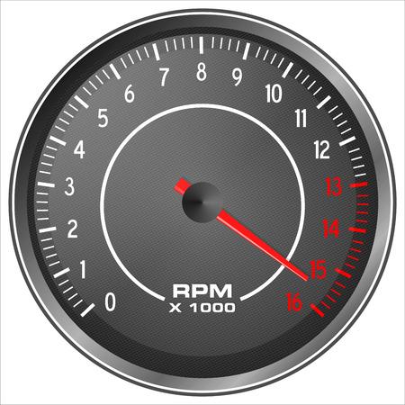 compteur de vitesse: Moto tachymètre illustration isolée sur fond blanc
