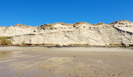 tempest: sand dune erosion caused by major storm