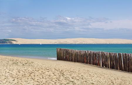 海の風景。フランスでピラ砂丘