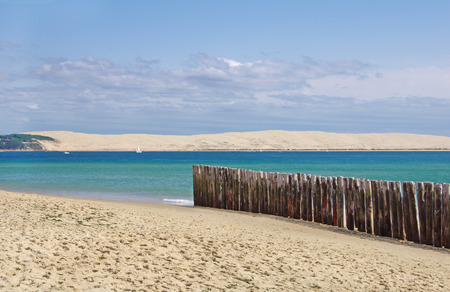 Seascape. The dune of Pilat in France