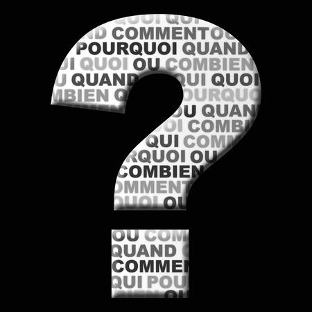 Question mark. Illustration Stock Photo