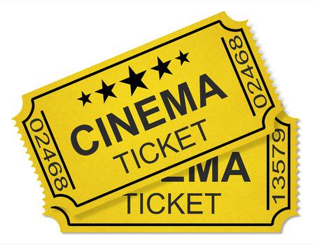 cinema tickets isolated on white background Stock Photo