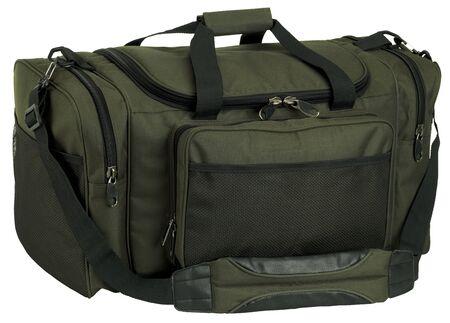 green fishing bag isolated on white background Stock Photo