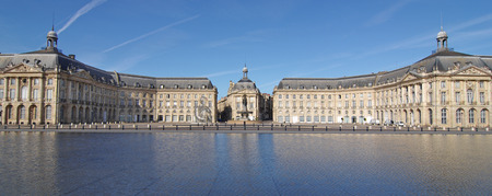 Bordeaux town Place de la bourse, gironde, aquitaine france Stock fotó
