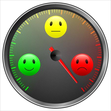 Mood barometer isolated on white Stock Photo