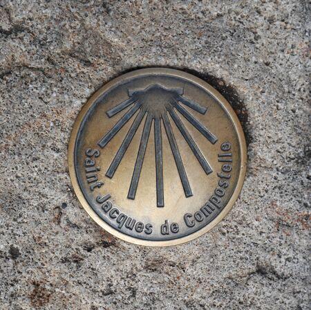 Saint Jacques de Compostela metal sign