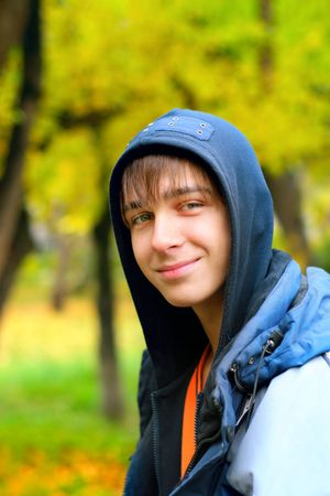 teenager portrait in the autumn park Stock Photo - 3830169