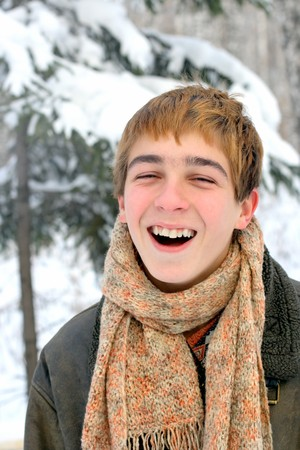 happy laughing teenager Stock Photo - 4316745