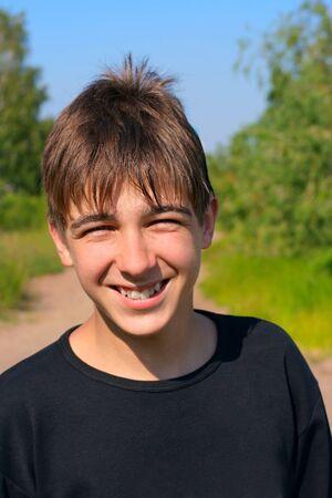 boy portrait outdoor photo