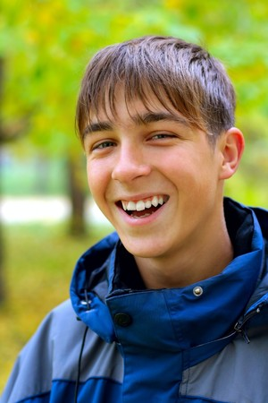 teenager portrait in the autumn park Stock Photo - 4491366