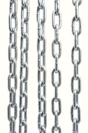 in ketten: Chain isoliert Lizenzfreie Bilder