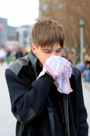 attack of the flu on the street