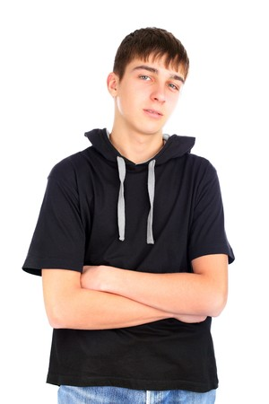teenager isolated on the white Stock Photo - 7184434