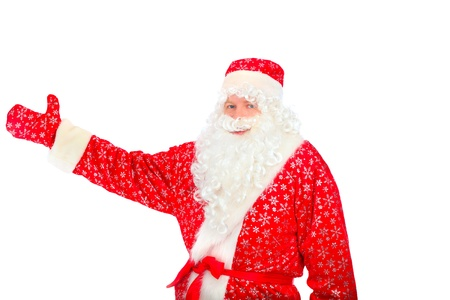 christmas santa claus isolated on the white Stock Photo - 9333749