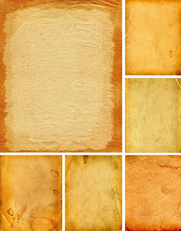 collection of old and vintage papers textures Stock Photo - 9333798