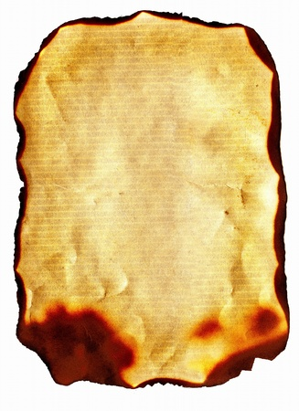old parchment paper with burned edges Stock Photo - 9380093