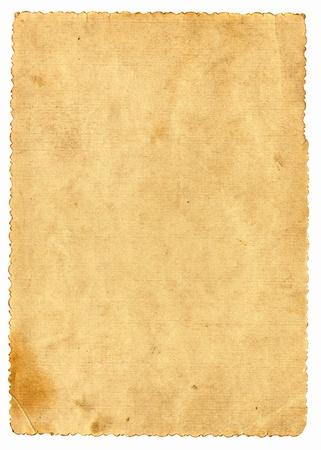 oud document: Vintage papier pagina op de witte
