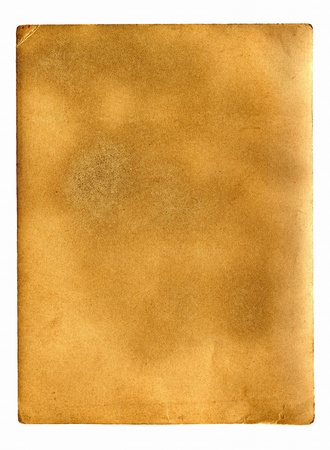 old dirty paper with space for text isolated on the white Stock Photo - 9380058