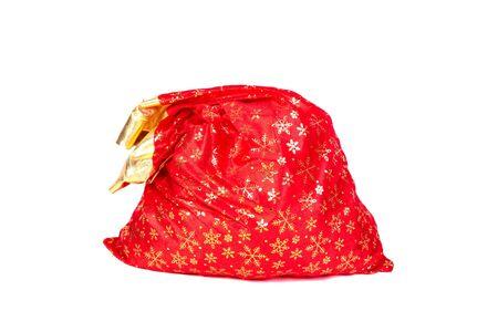 sackful: santa claus sack isolated on the white Stock Photo