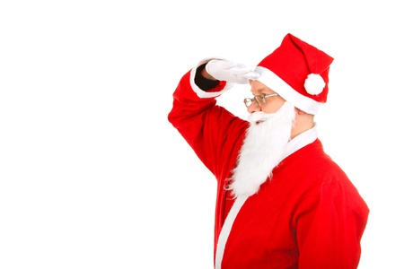 santa claus looking for someone photo