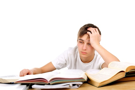 bored and tired student after hard work Stock Photo - 9531146