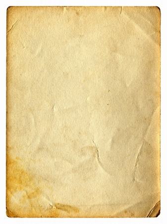 old dirty paper with space for text isolated on the white Stock Photo - 9872760