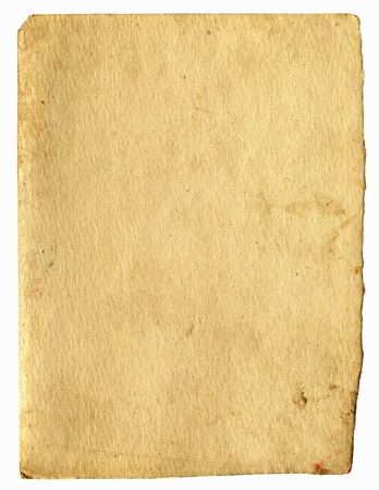 old dirty paper with space for text isolated on the white Stock Photo - 9872771
