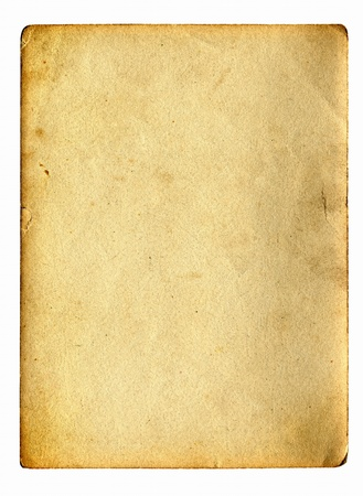 old paper with space for text isolated on the white Stock Photo - 9872755