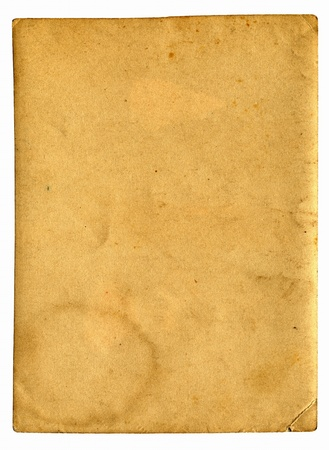 old paper with space for text isolated on the white Stock Photo - 9872769