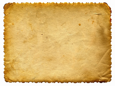 old paper with space for text isolated on the white Stock Photo - 9872783