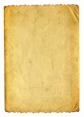 vintage paper isolated on the white Stock Photo - 9872754