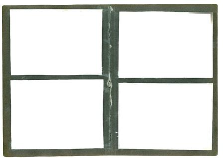 photo frames on old aged album isolated photo