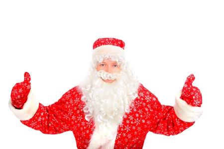santa claus with thumb up photo