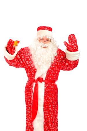 santa claus with orange juice photo