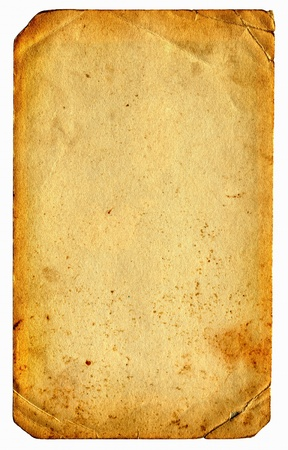 old and dirty paper isolated on the white Stock Photo - 10232759