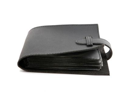 black purse isolated on the white background photo