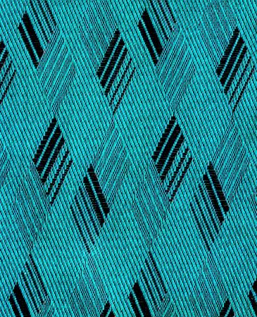 rhomb: cyan and black rhomb form fabric texture