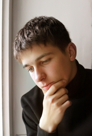 Portrait of the earnest Teenager Closeup photo
