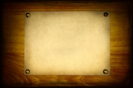 Vintage Notice Board on old wooden wall background Stock Photo - 18538111