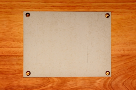 Empty Notice Paper on wooden wall background Stock Photo - 18538112